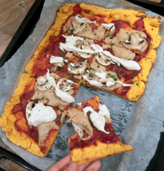 Sweet Potato Pizza Crust Recipe